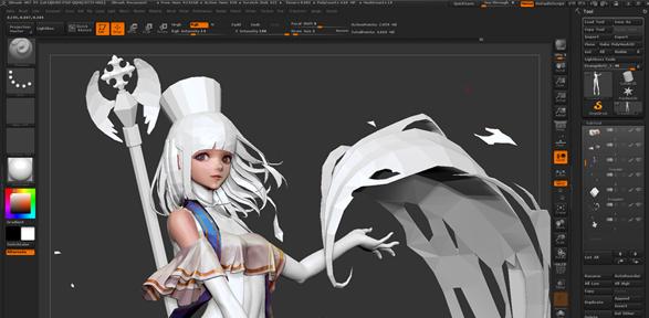 게임 캐릭터와 배경을 3D로 제작합니다.